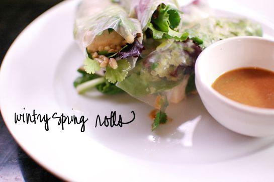 Wintery Spring Rolls (variation: add shrimp!)