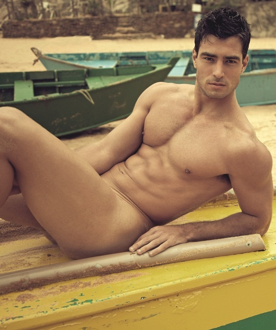 guy naked laying down
