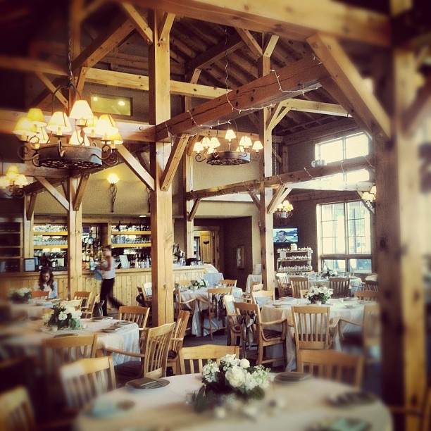 The inside of the Raven Golf Club in Silverthorne, Colorado.  #silverthorne #colorado #wedding #event #party #reception #venue