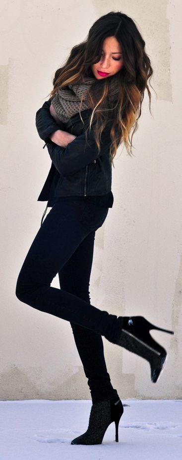 fall/winter I black on black + scarf.