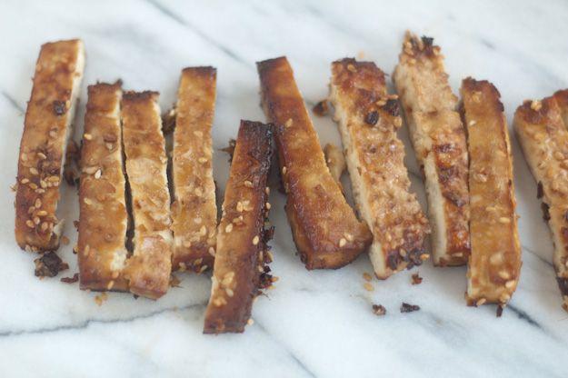 Summer Rolls with yellow squash, plum and ginger garlic tofu. Tofu ...
