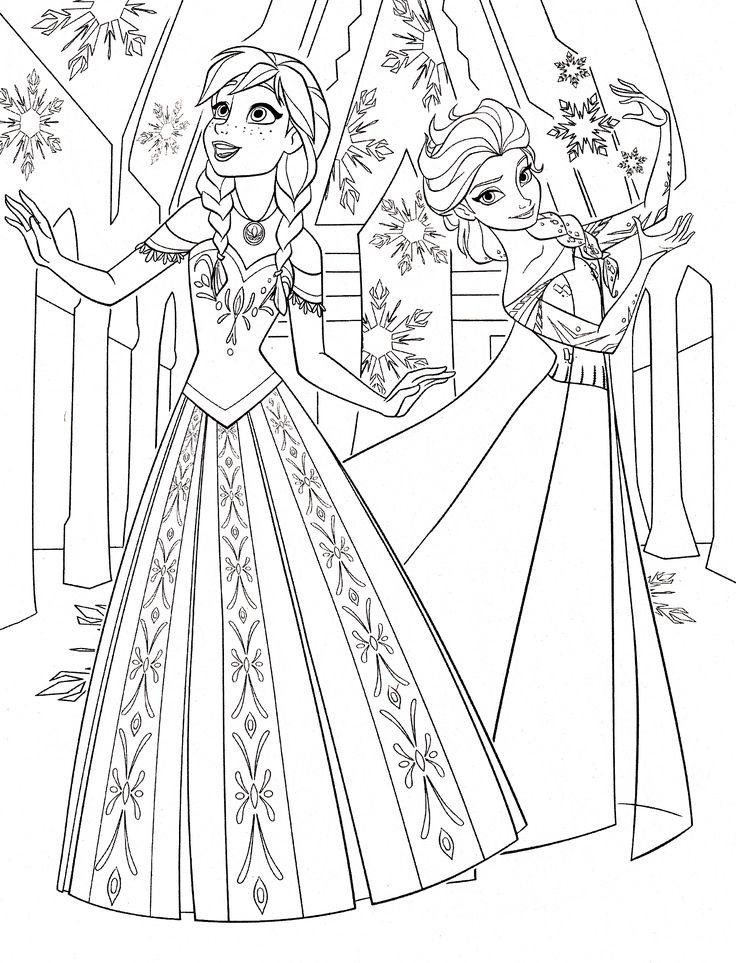 Раскраски принцессы диснея эльза