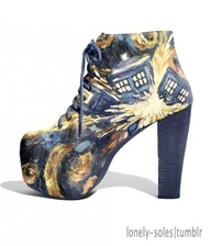 Dr. Who Shoes. T.A.R.D.I.S Thrilling, alluring, revolutionary