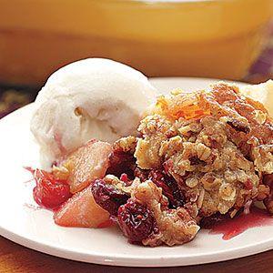 Pear-Apple-Cranberry Crisp Recipe | MyRecipes.com Mobile