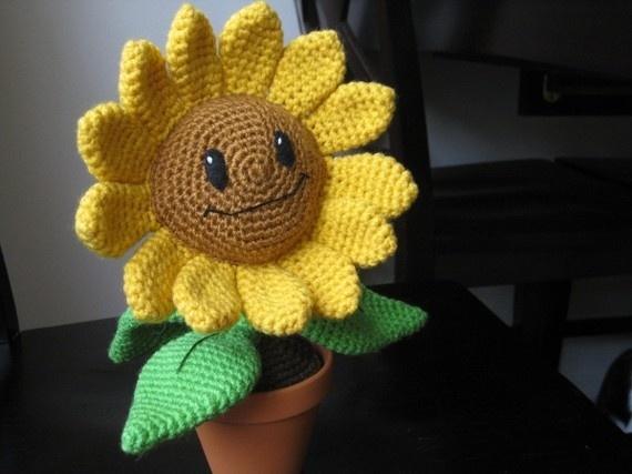 Sunflowers Amigurumi Crochet Pattern Plant : Crochet sunflower attempting creation Pinterest