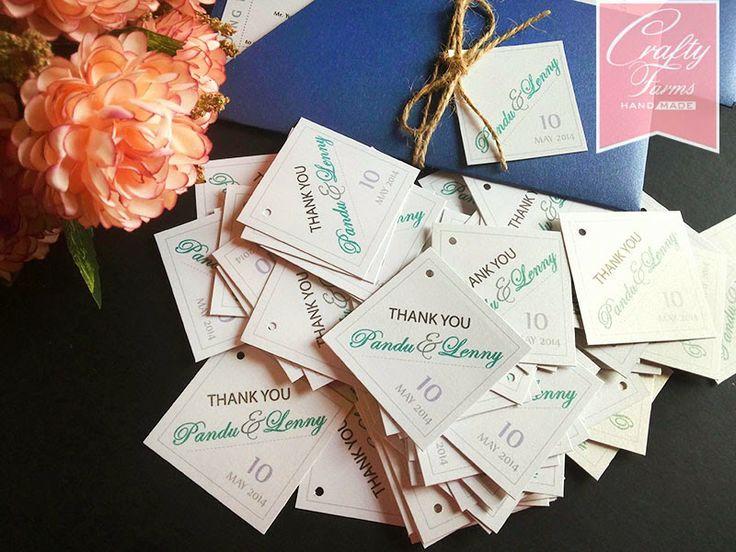 Wedding Gift Card Malaysia : Wedding Card Malaysia Crafty Farms Handmade Thank you tags for ...
