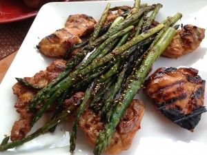 Asian Glazed and Grilled Chicken with Hoisin Asparagus is sweet spicy ...