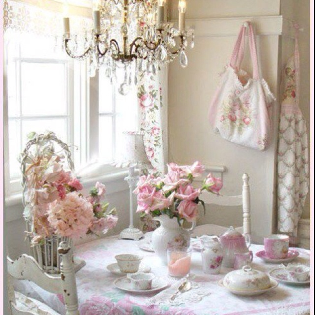 Nice Table Setting Shabby Chic Pinterest