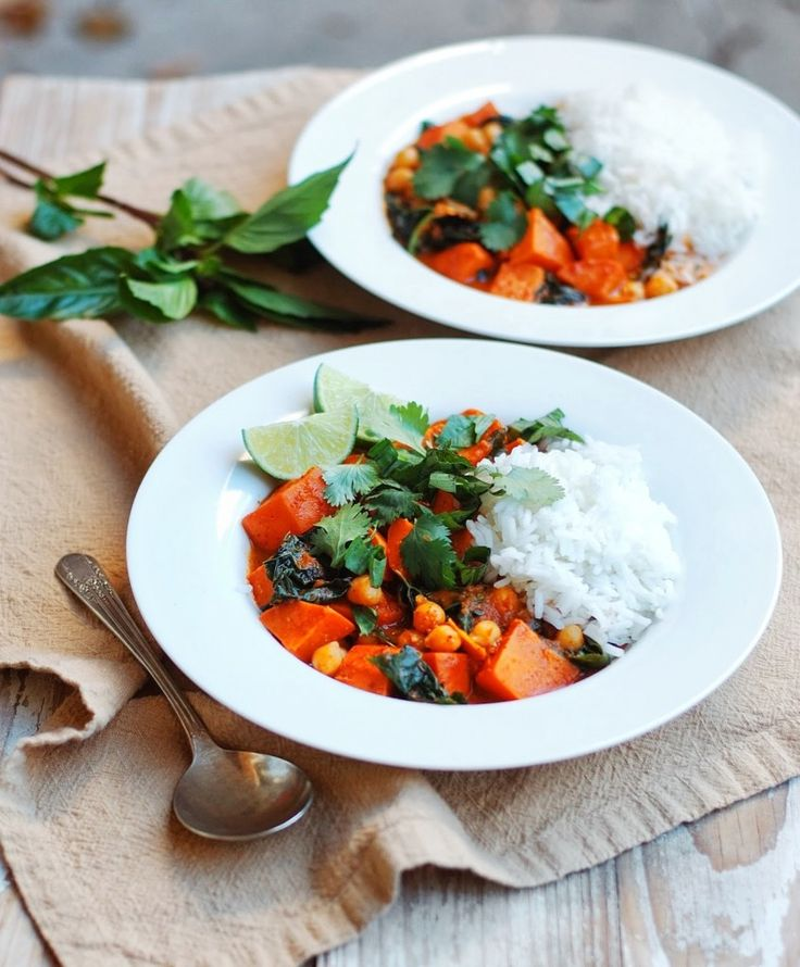 Sweet Potato, Chickpea, and Kale Curry | Culinary Content Network | P ...