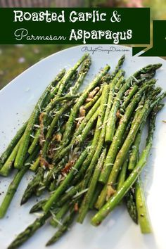 Roasted Garlic and Asparagus   Mouth watering recipes   Pinterest