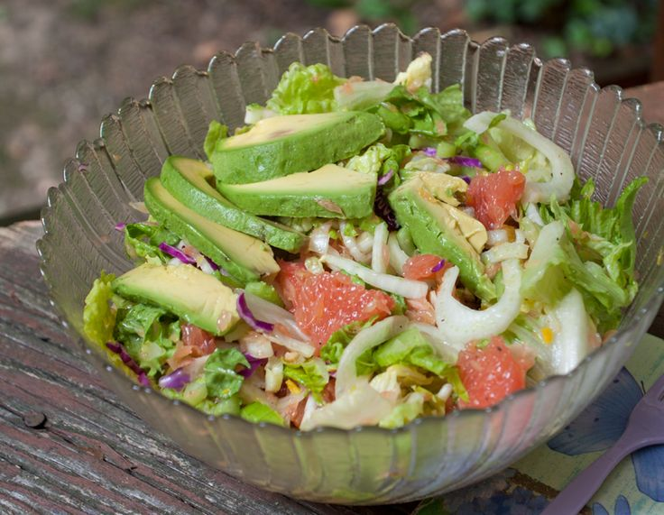 Summer Salad: Grapefruit, Avocado & Fennel w/ an Asian Citrus Dressing ...