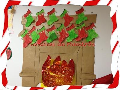 Decoración Navideña con Calcetines pintados
