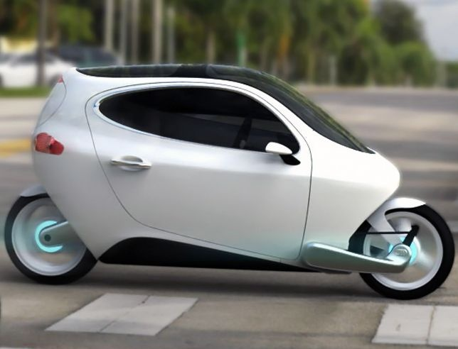 C-1 electric vehicle, gyroscopic stability and mobile connectivity, 120mph