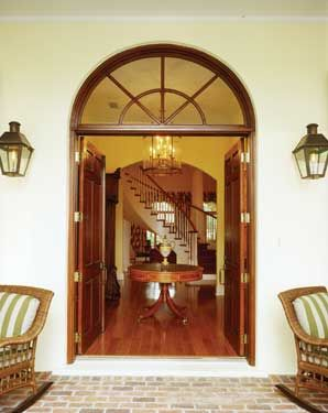 Colonial style french door entrance houses pinterest for French style entry doors