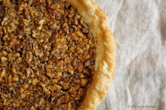 Walnut Maple Pie Recipe — Dishmaps