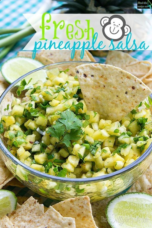 Fresh Pineapple Salsa | BBQ | Pinterest