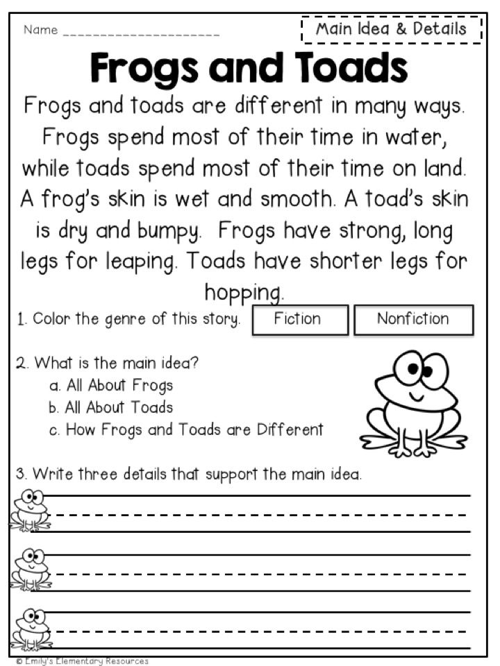 2nd grade printable reading activities
