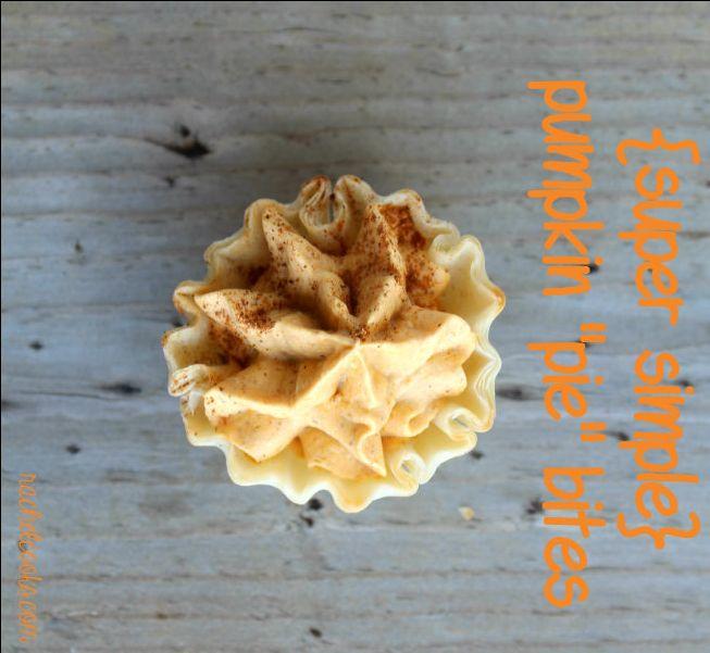 Mini Pumpkin Tarts (seriously easy!) | Recipe