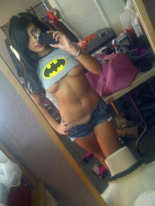 Amateur girl in batgirl costume sucks dick and drinks cum 10