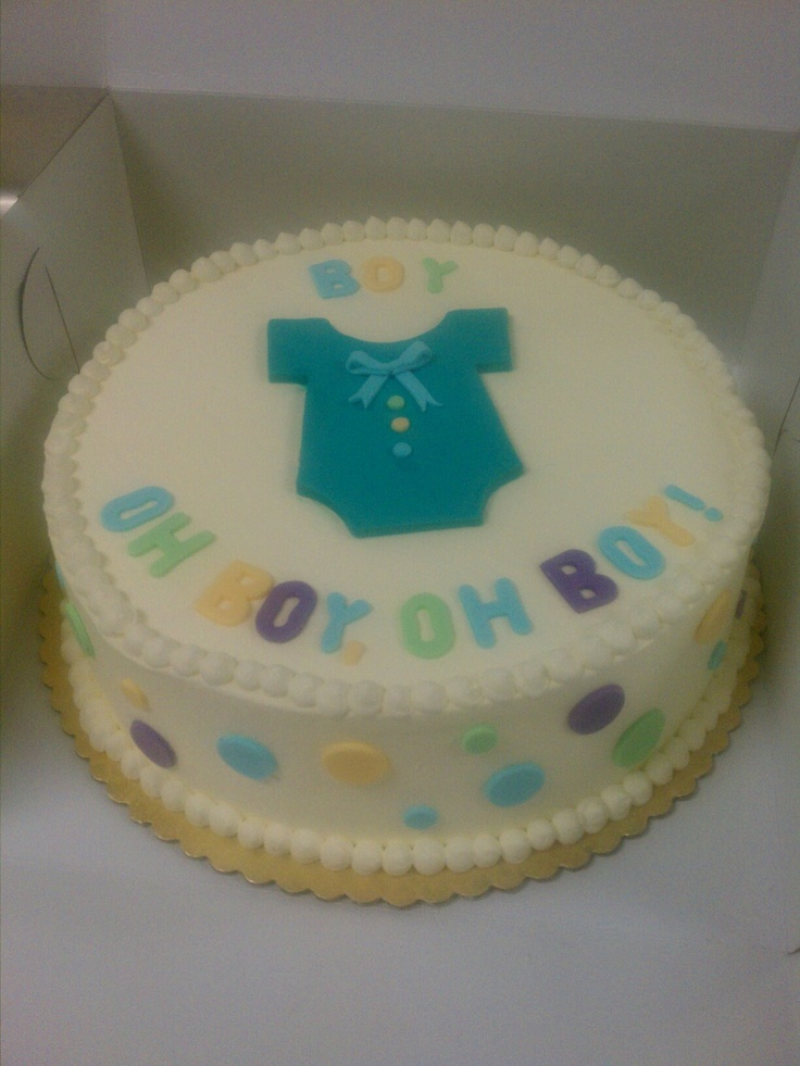 Baby Boy Baby Shower Cake @ Sweeter Days Bake Shop - Fort Lauderdale ...