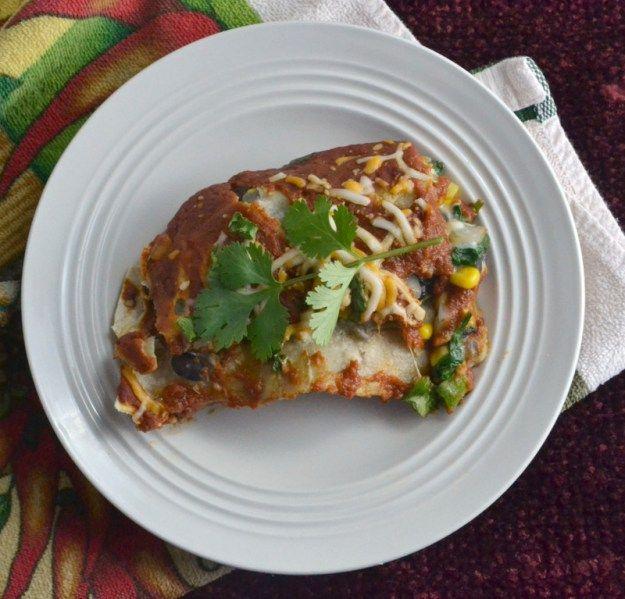 chicken black bean and spinach enchiladas black bean and spinach ...