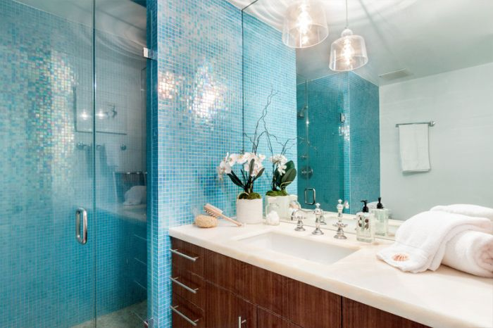 Cool Small Bathroom Tile  Bright Tiles Make Your Bathroom Appear Larger