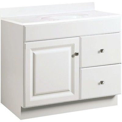 bathroom vanity cabinet white 36 inches wide x 21 inches deep new