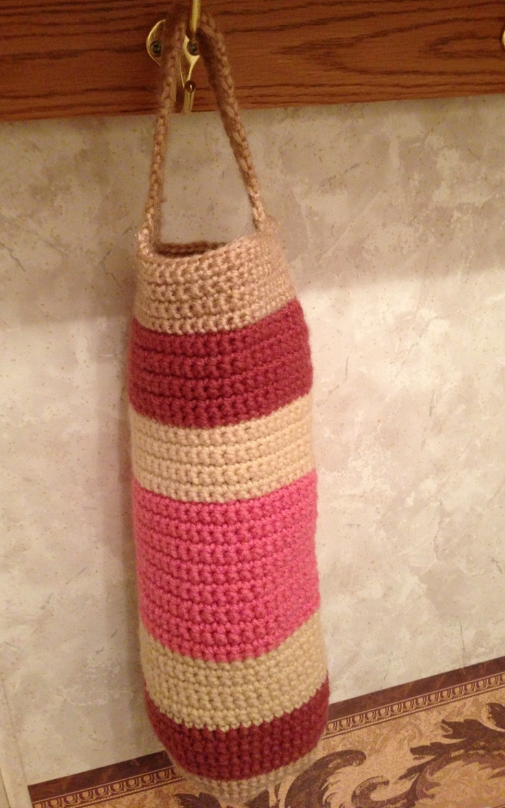 Crochet Plastic Bag Dispenser Pattern : Crocheted plastic bag holder LOOK WHAT I DID! Pinterest