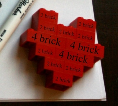 lego valentines day cards