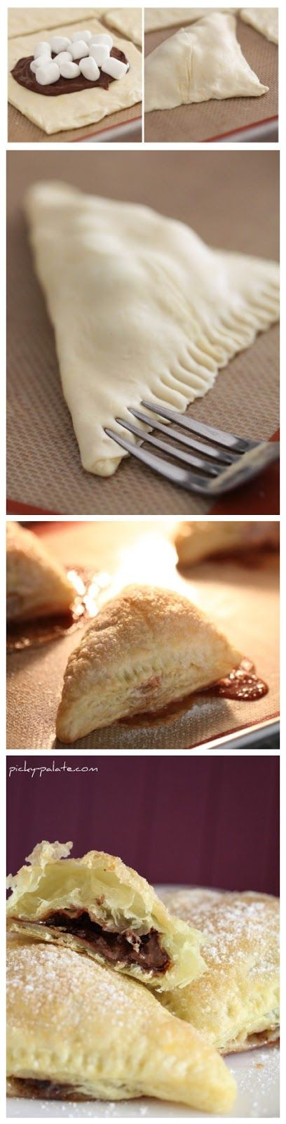 Nutella-Mallow Pillow Pockets | Sweet Tooth | Pinterest