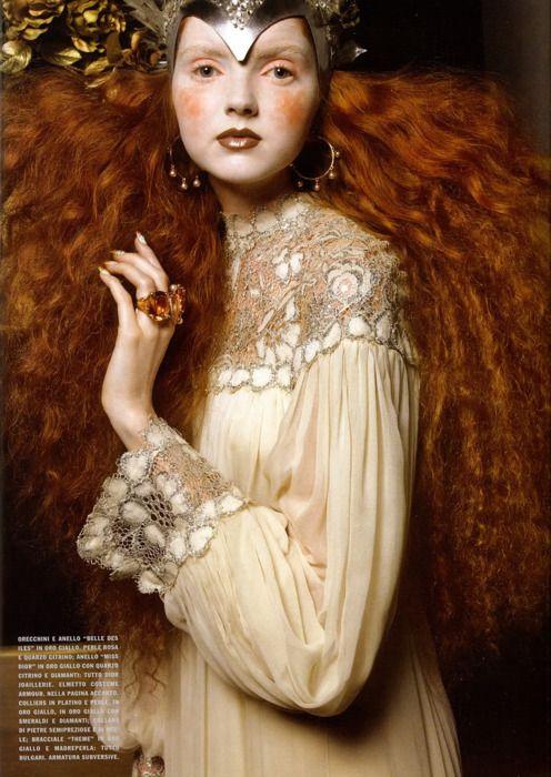 Bohemian red hair goddess