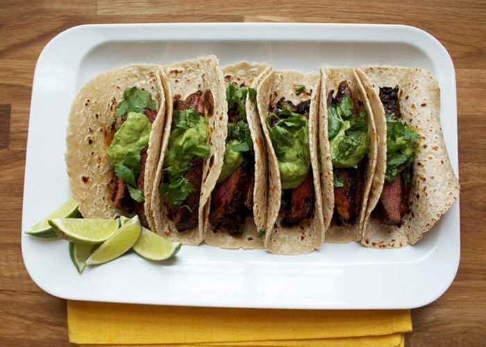... chile skirt steak tacos. These look simple, healthy, and super tasty