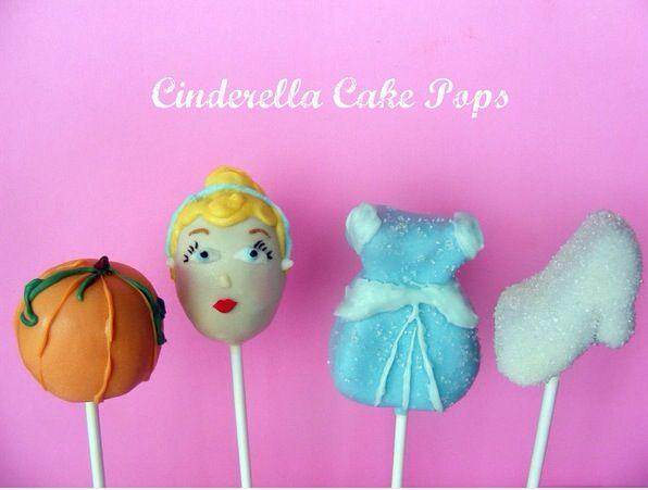 Cute Cinderella cake pops