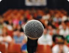 7 Steps to Effective Public Speaking... which I hope to need addressing a crowd on how I can help them, what I do and what I've achieved.