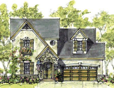 Cottage European House Plan 69084