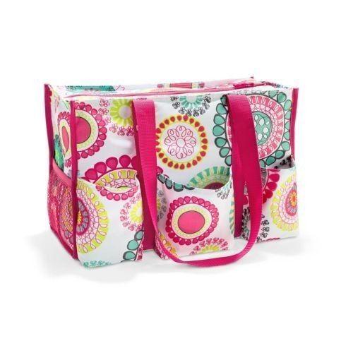 Thirty-One Gifts NIP Zip-Top Organizing Utility Tote Diaper Bag Purse ...