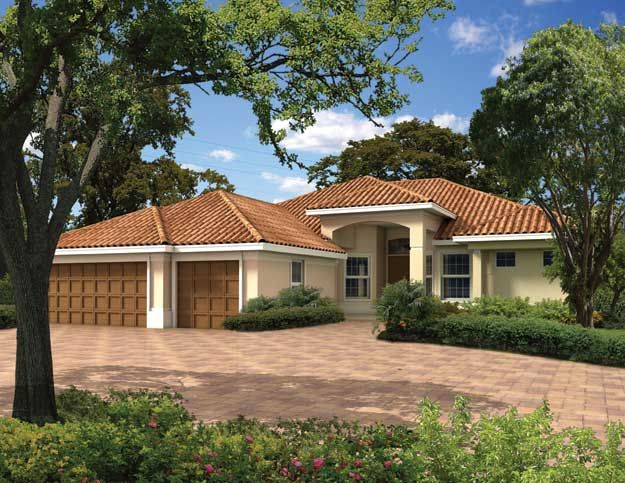 Pin by ultimate home plans on spanish mediterranean home for Two story mediterranean house plans