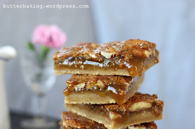 Maple pecan pie bars by butterbaking