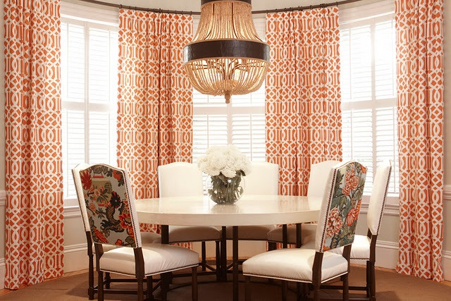 Orange curtains bevanddara living room pinterest - Orange curtains living room ...