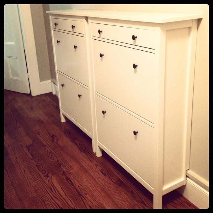 Ikea hemnes shoe cabinets in white new house pinterest for Ikea hemnes shoe cabinet hack