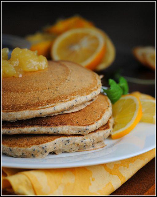 Lemon Poppyseed Yogurt Pancakes. Lemon & yogurt go together so well in ...