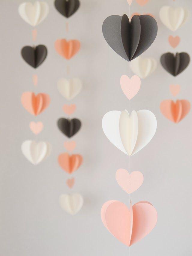 DIY 3D Heart Mobiles