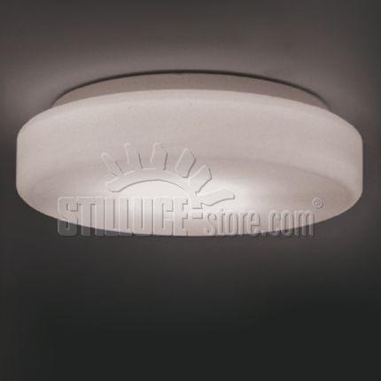 Egoluce Musa lampada da parete o soffitto in vetro soffiato satinato ...