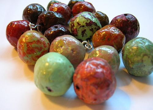 Papier mache beads by Beadhelly, via Flickr