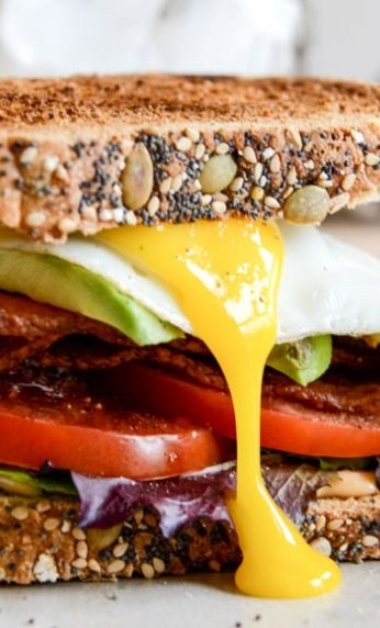 Avocado BLT's with Spicy Mayo and Fried Eggs   Recipe
