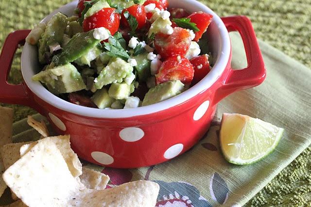 avocado lime and feta recipes dishmaps salsa mit avocado und feta