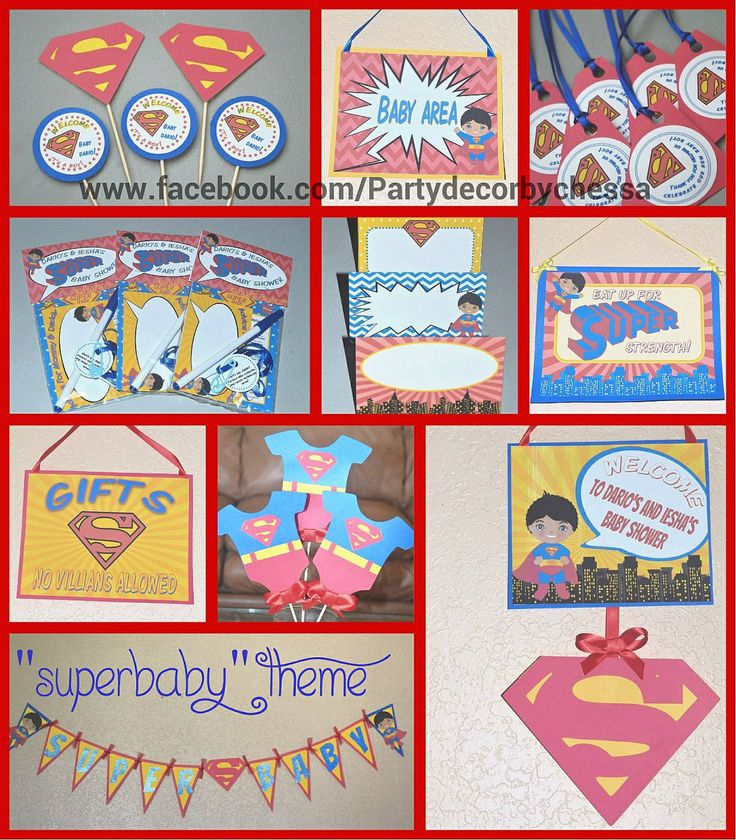superman baby shower decorations