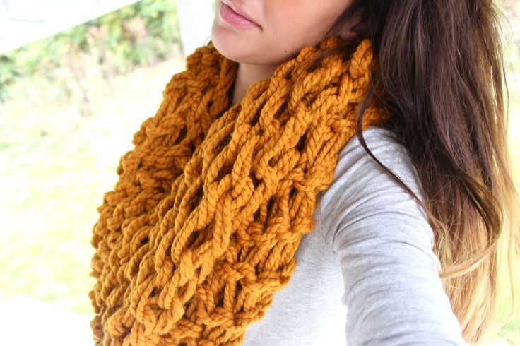 Next project! Arm Knitting Scarf yarn projects Pinterest