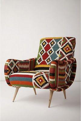 Geo Tribal Print Armchair Homes And Decor Pinterest