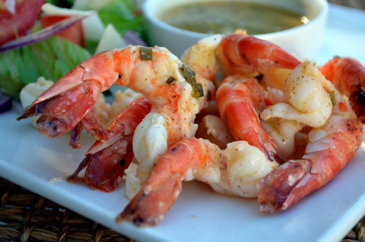 Jumbo Shrimp with Garlic Chive Butter